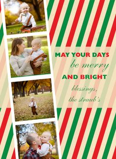 Custom MultiPhoto Christmas Card  Photo Strip by HParkerDesigns, $35.00