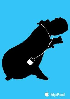 Hippo change of the ipod advertising
