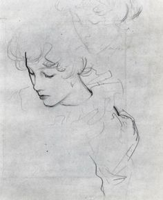 John Singer Sargent drawing the head from different angles