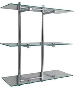 Gallery For Photographers Wall Rack with Glass Shelves