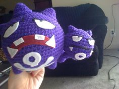 The designer asked for some test crocheters. I love Pokémon and I have some mystery purple. The testing begins!  Not sure when I will get the felt part done though.