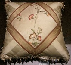 Croscill CORAL SPRINGS Square FASHION Boudoir 4 PILLOWS Embroidered Flowers #Croscill- one of my Master Bedroom comforters