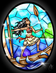 Stained Glass Moana by CallieClara.deviantart.com on @DeviantArt