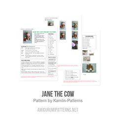 Jane the Cow amigurumi pattern by Kamlin Patterns