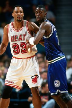 #FlashbackFriday: The Wolves played the Heat on 12/7/13, so it's only appropriate to go back to a time before Kevin Love and LeBron James. Friday, December 6th's photo was from 1996 when a young Kevin Garnett battled All-Star Alonzo Mourning.