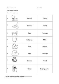 Healthy Food | food | Pinterest | Worksheets, Activity games and ...