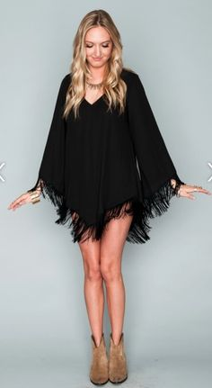 Rodeo Dress- Black Crisp