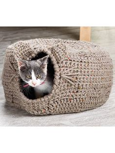 Cat Igloo Crochet Pattern download designed by Lena Skvagerson for Annie's. Order here: https://www.anniescatalog.com/detail.html?prod_id=124369
