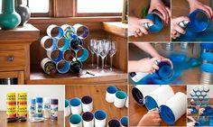 Porta bottiglie #FaiDaTe con il #RicicloCreativo dei barattoli di latta  SEGUICI SU: www.facebook.com/CreoEco www.pinterest.com/CreoEco