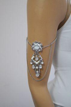 BOHO Wedding moon Stone  Bracelet Leg Chain by ArtofAccessory