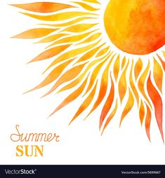 Illustration about Bright hand-painted sun in right corner on white background. There is place for your text. Illustration of aquarelle, climate, gold - 58070367 Sun Background, Sun Drawing, Sun Tattoos, Sun Rays Tattoo, Tattoos Skull, Painted Rocks, Hand Painted, Sun Stock, Art And Illustration