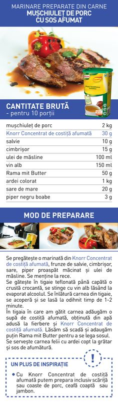 Marinare preparate din carne (III) - RETETE Food And Drink, Cooking Recipes, Beef, Pork, Meat, Chef Recipes, Steak, Recipies