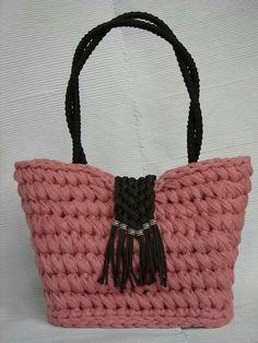 Bolso B&B rosa/ negro