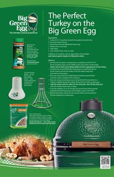 Recipe for The Perfect Turkey using The Big Green Egg   http://greenegggrillezo.blogspot.hu/  #greenegg #grillezés #grillreceptek #grill #greeneggs