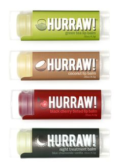 HURRAW! Lip Balm.  We are getting these in the shop this week Cant wait to try them out...