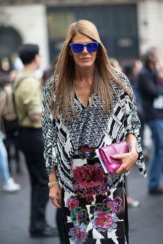 Street Style: Paris Fashion Week Spring 2014 - Anna Dello Russo in Tom Ford