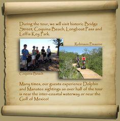 Tour Anna Maria Island, Florida on a Segway PT Convenient to Bradenton, Sarasota, Longboat Key and Tampa Bay Areas
