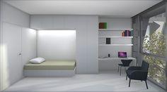 Wintec Student Housing - Ian Moore Architects  Bedroom  #interiordesign #apartmentdesign #modern #bedroom