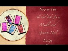▶ How to Use Alcohol Inks for a Marble and Granite Nail Design - YouTube