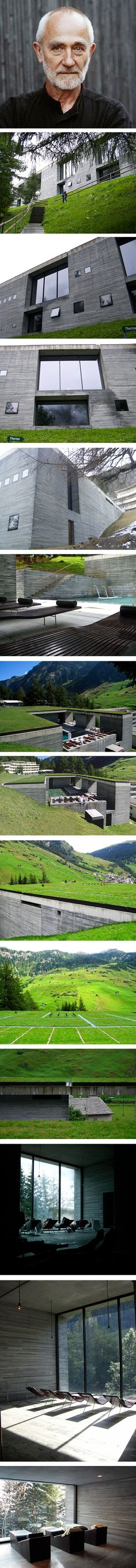 Peter Zumthor - Vals : Surrounding mountains are the perfect enclave for this beautiful project.