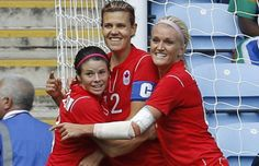 Christine Sinclair, Kaylyn Kyle and Diana Matheson !