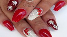 Red and Gold Christmas Acrylic Nails - Fresh Red and Gold Christmas Acrylic Nails , Red White Christmas Nails Acrylic Gel Nails Luminous Christmas Gel Nails, Holiday Nail Art, Christmas Nail Art Designs, Gold Nail Designs, Acrylic Nail Designs, Acrylic Gel, Nails Design, Trendy Nails, Cute Nails