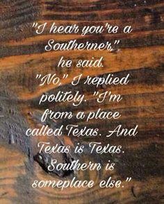 Texas is Texas