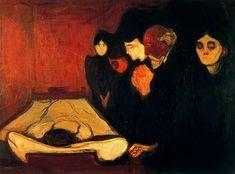 By the Deathbed (Fever), 1893, Edvard Munch  Size: 60x80 cmMedium: pastel on board  #edvardmunch #fineart #arthistory #artist