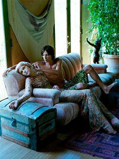 Steven Meisel shoots Jessica Stam for Vogue Italia September 2003.