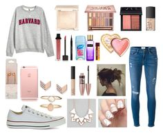 """""""Daily"""" by doggieloverm on Polyvore featuring Frame Denim, Converse, Accessorize, Full Tilt, FOSSIL, Jouer, NARS Cosmetics, Urban Decay, Givenchy and Too Faced Cosmetics"""