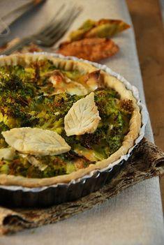 Tarte brocoli chèvre - Recette maison végétarienne