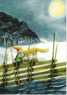 Kabouter en de wolf op het hek