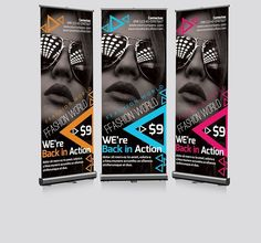 Photography Roll Up Banners Template Project Presentation, Presentation Design Template, Print Templates, Psd Templates, Design Templates, Texture Web, Roll Up Design, Design Typography, Photoshop