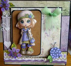 Bestie Milly Mae 3D Decoupage card by Lorraine Lowe