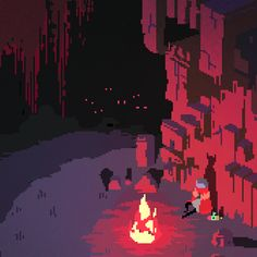 Hyper Light Drifter - Campfire