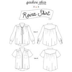 Pauline Alice Reina Shirt Sewing Pattern - Guthrie & Ghani