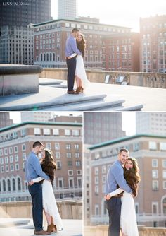 Indianapolis Rooftop Engagement Session / LinneaLiz Photography / www.LinneaLiz.com