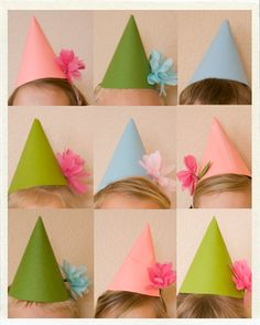 adorable party hats for a kid's party!