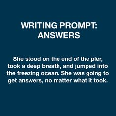 Writing prompt: answers
