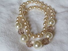 Elegant Pearl Necklace by OneLovelyButterfly on Etsy, SALE was $29.99, now $24.99 save $5 plus free shipping
