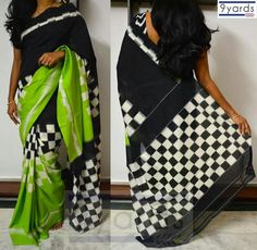 Cotton Andhra Ikat saree from 9Yards