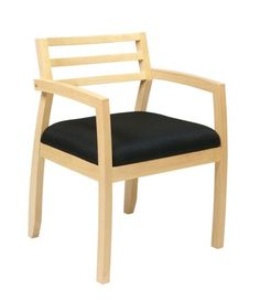 Napa Maple Black Guest Chair w/Wood Back OSP-NAP91MPL-3