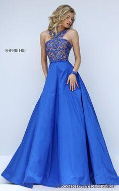 Royal Sherri Hill 50106 Halter Long Prom Dress