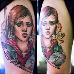 "Hey this is a tattoo of Ellie from ""The Last Of Us"""