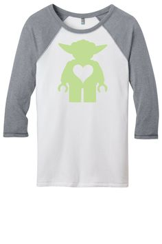 Love Yoda Baseball Tee by ALOcollection on Etsy https://www.etsy.com/listing/218680871/love-yoda-baseball-tee