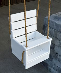 Take a look at this White Pine Baby Swing today!