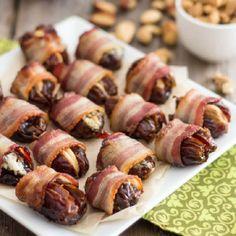 Bacon Wrapped Stuffed Dates #recipe