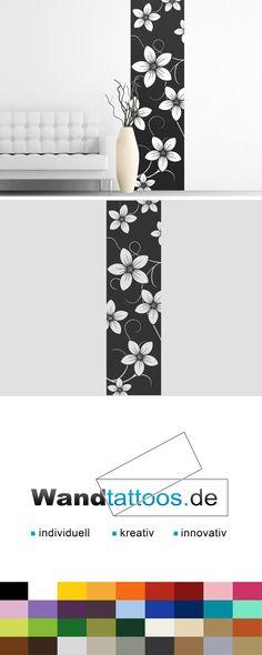 Wandbanner Blumen als Idee zur individuellen Wandgestaltung. Einfach Lieblingsfarbe und Größe auswählen. Weitere kreative Anregungen von Wandtattoos.de hier entdecken!