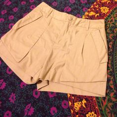 Khaki high-waisted shorts PEACE Bird Collection khaki shorts. High waisted and great condition! Very comfy. Urban Outfitters Shorts