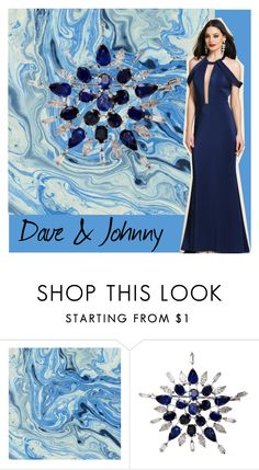 """Dave & johnny: Navy blue gown"" by daveandjohnny212 on Polyvore featuring Dave and Johnny"